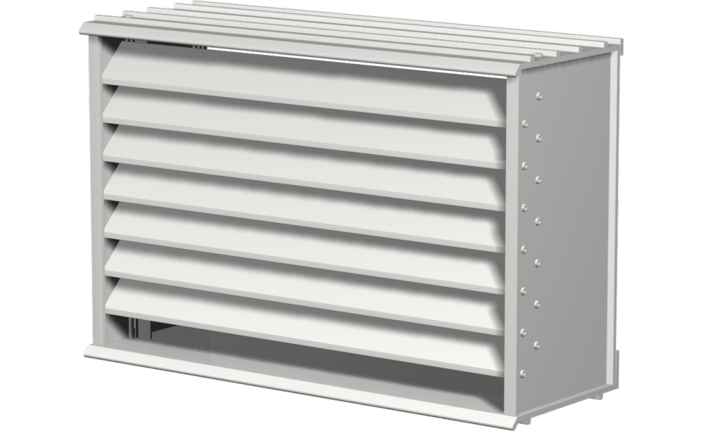 Picture of Extruded Aluminum Brick Vent, 8 In Sq