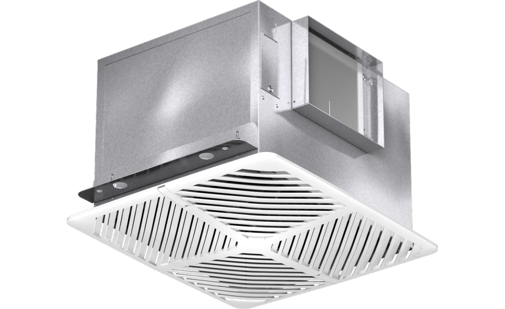 Bathroom Exhaust Fan, Model SP-A390-VG, 115/208-230/277V, 1Ph, 93-410 CFM