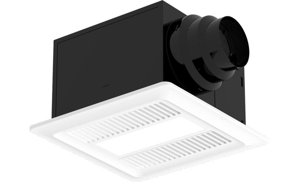 Bathroom Exhaust Fan, Lighted, Model SP-AP0511WL, 115V, 1Ph, 30-110 CFM