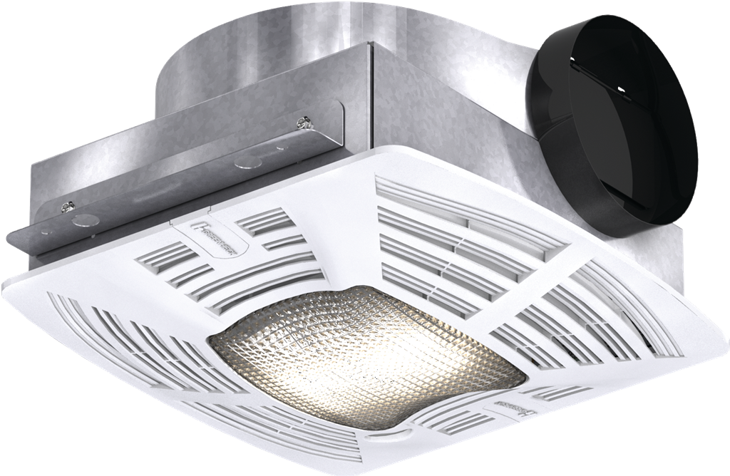 Foto para Bathroom Exhaust Fan, Low Profile, Lighted, Model SP-B110-L, 115V, 1Ph, 50-133 CFM