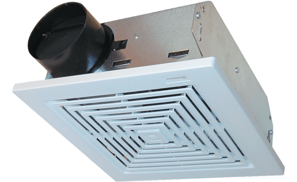 Bathroom Exhaust Fan, Wall or Ceiling Mount, Model SP-C50, 115V, 1Ph, 29-52 CFM
