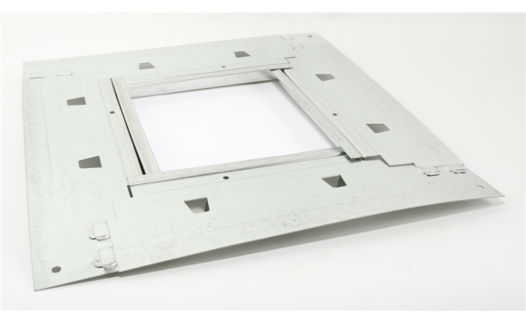 Damper Tray, Accommodates 8 In Damper installed in Roof Curb Model GPI-17