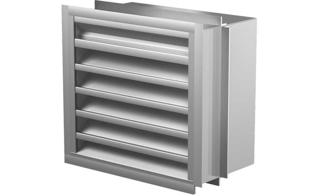 Miami-Dade Approved Drainable Blade Louver, 12 In Sq