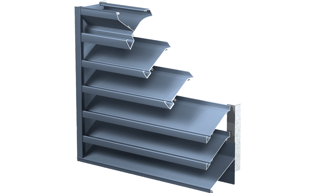 Picture of Miami-Dade Approved Drainable Blade Louver, Model 635DE