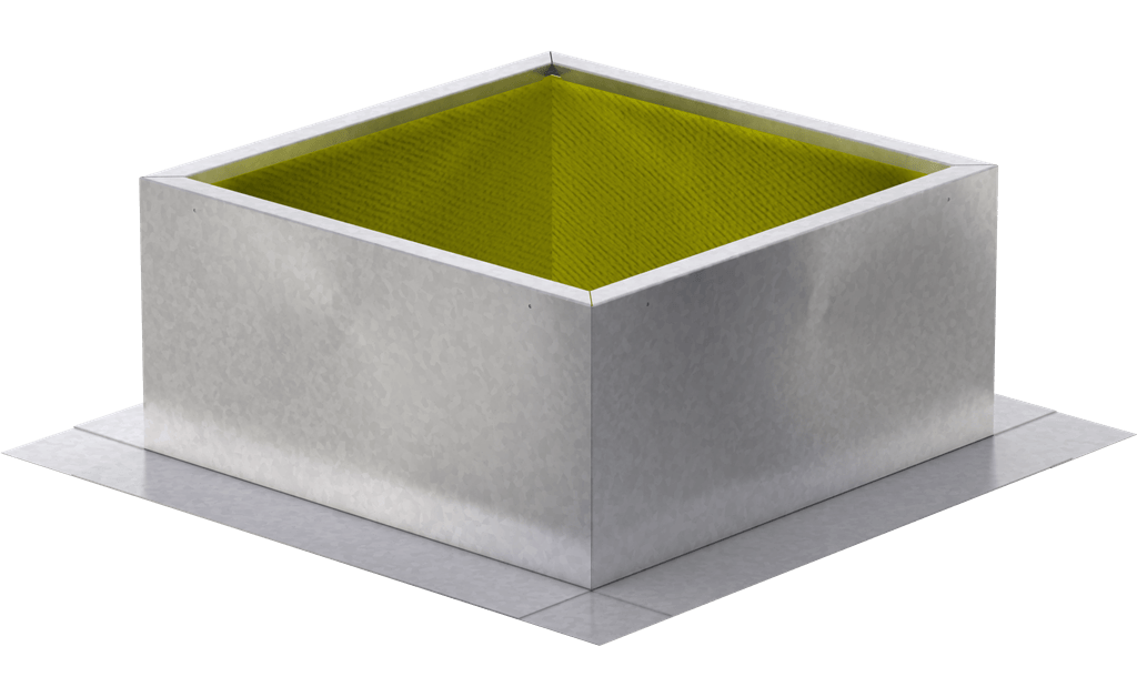 Roof Curb for 30 In. Square Base, for High Wind Applications, 18 In. High