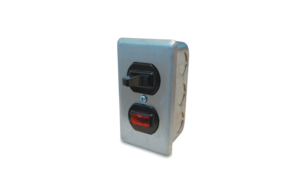 Manual Switch, Single Throw Wall Mount with Pilot Light, Up to 1/2HP, 120V
