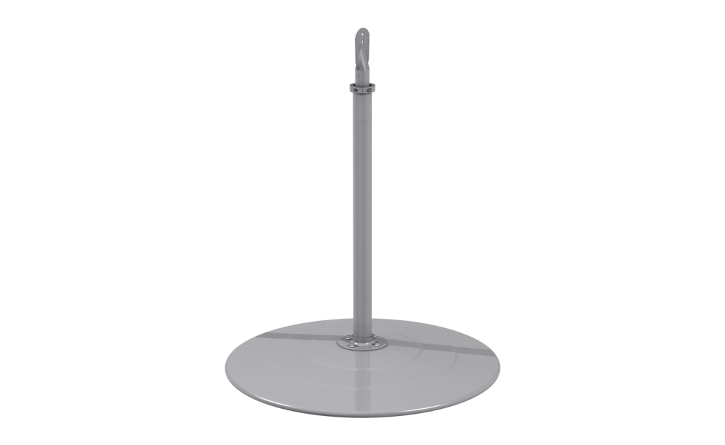 Pedestal, Closed Base, For Models IC/ICO, Gray