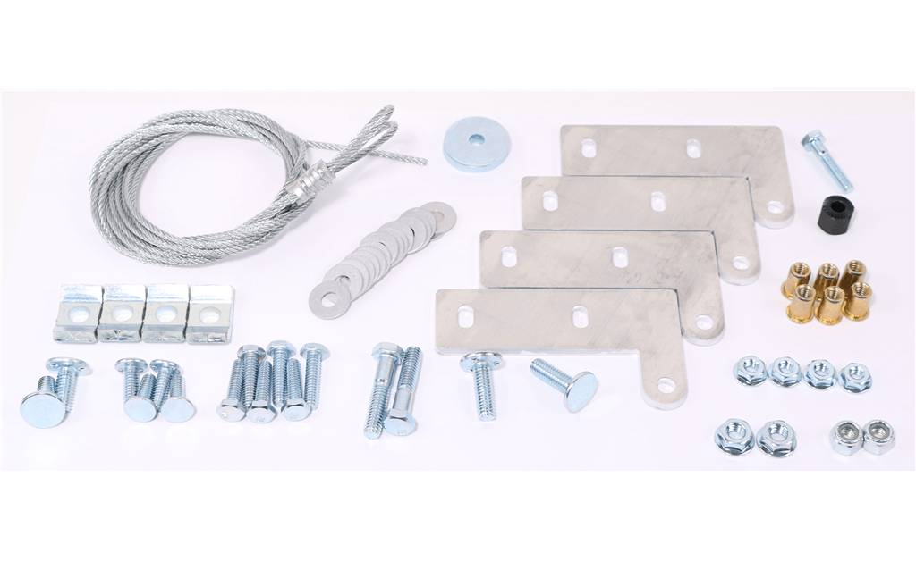 Hinge Curb Kit with Cables, For use with Models CUBE 099-200, CUE 060-200, GB 071-200 and G 060-203