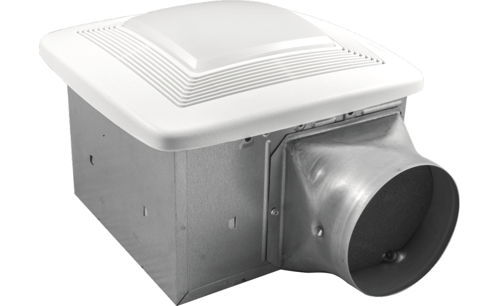 Bathroom Exhaust Fan, Variable Speed, Lighted, Model SP-80L-VG, 115V, 1Ph, 38-80 CFM