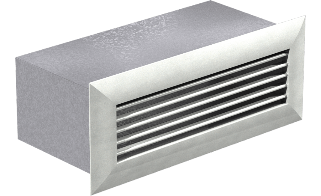 Wall Louvered Discharge, Model WL-18x6, For Models SP/CSP