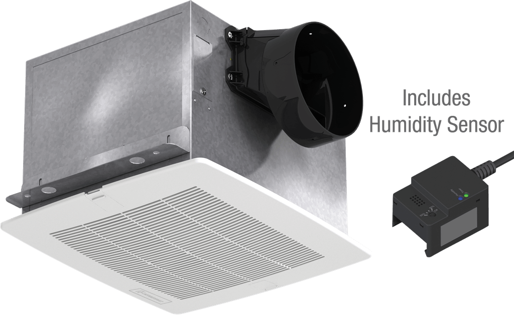 Picture of Bathroom Exhaust Fan, Constant CFM with Humidity Sensor, Model SP-A50-90H, Vari-Green EC Motor, 115V, 1Ph, 50-90 CFM