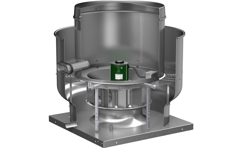 Picture of Centrifugal Upblast Exhaust Fan, Variable Speed, Model CUE-100, Direct Drive, Vari-Green EC motor, 1/4HP, 115/208-230V, 1Ph, 479-1468 CFM