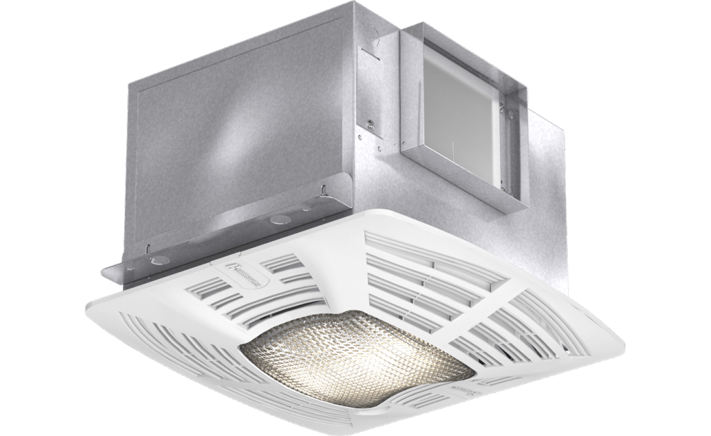Bathroom Exhaust Fan, Lighted, Model SP-A110-L, 115V, 1Ph, 98-130 CFM