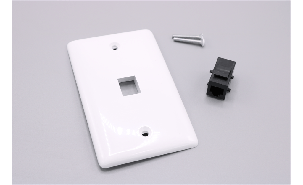1-Port Wall Plate Kit, White