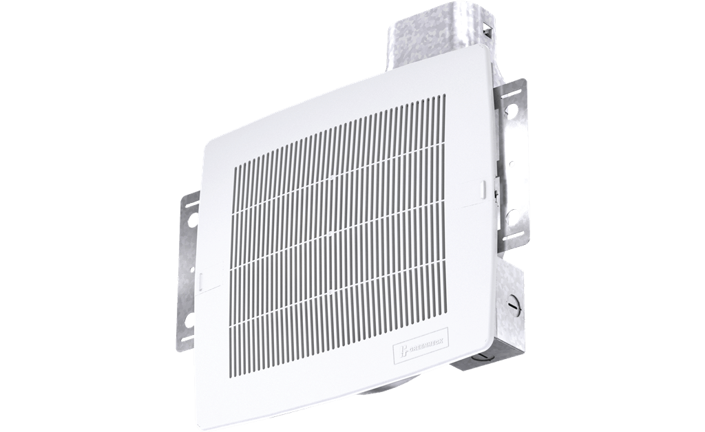 Bathroom Exhaust Fan, Low Profile, Wall or Ceiling Mount, Model SP-L50, 115V, 1Ph, 19-62 CFM