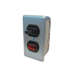Picture of Manual Switch, Single Throw Wall Mount with Pilot Light, Up to 1/2HP, 120V