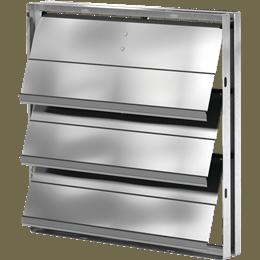 Picture of Backdraft damper, vertical mount, Model BD-330, 10 In Sq, No Flange, Performance up to 1,500 ft/min