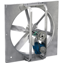 Picture of Sidewall Propeller Exhaust Fan, Model SBE-1H24, Belt Drive, 1/2HP, 208-230/460V, 3Ph, Motor & Drives Unassembled, 904-5281 CFM