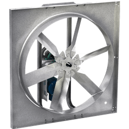 Picture of Sidewall Propeller Exhaust Fan, Model SBE-1H24, Belt Drive, 1/4HP, 115V, 1Ph, Motor & Drives Unassembled, 894-3922 CFM