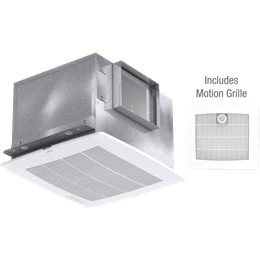 Imagen de Bathroom Exhaust Fan with Motion Grille, Model SP-A110M, 115V, 1Ph, 98-130 CFM