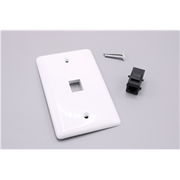 Picture of 1-Port Wall Plate Kit, White