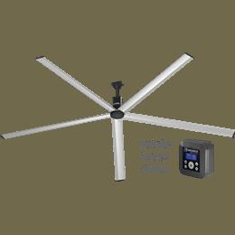 Picture of HVLS Fan, Model DC-5, Low Voltage 115/208-230v, 12 ft diameter, 5-blade, Fan Performance up to 50,000 CFM